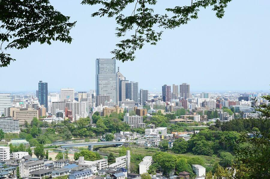 仙台城跡からの景色