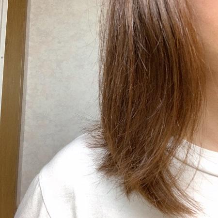 エルジューダ 使用後の髪の毛