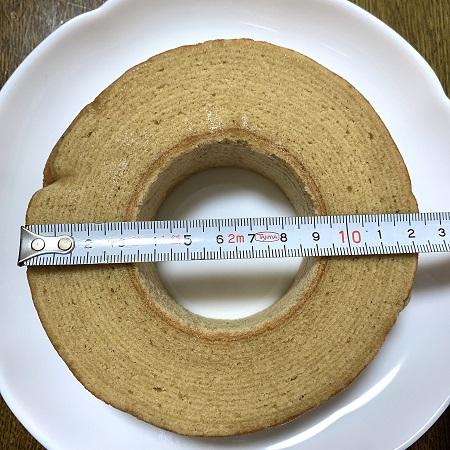 酪王カフェオレバウム 直径
