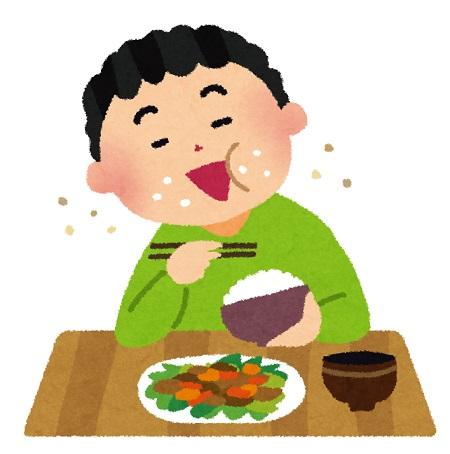 咀嚼音を立てて食事をしている人