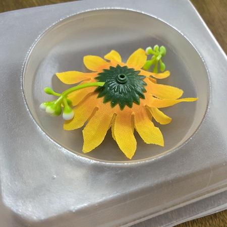 クリアソープ造花セット完了